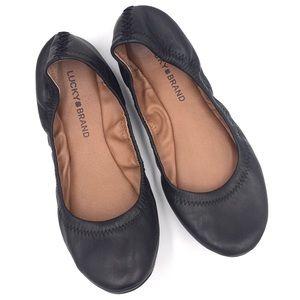 Lucky Brand Emmie black round toe ballet flats